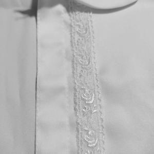 白色ブラウス作り【前立てと襟付け】