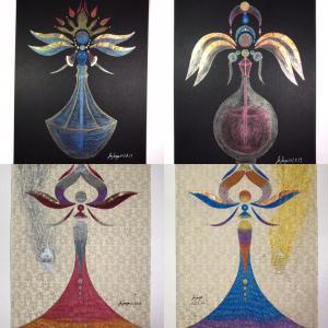 香りの精霊・聖霊アートをCreemaに出品しました