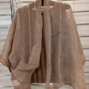 麻糸の織ジャケット