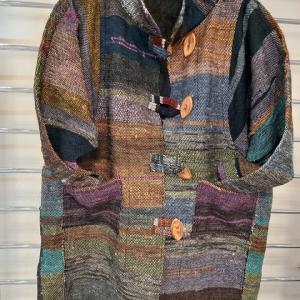 裂き織ジャケット