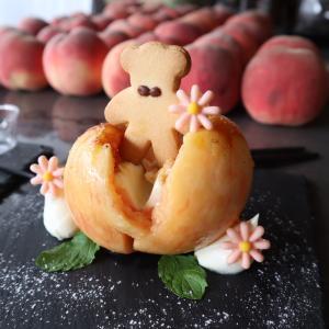 【大阪】桃から生まれたクマ太郎?可愛すぎる果物スイーツが話題のand.cafe(アンドカフェ)