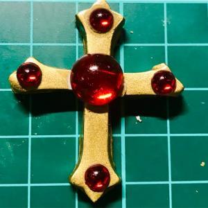 樹脂粘土でジャンヌのロザリオ(初期)作ってみた