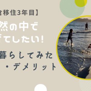 【鎌倉移住3年目】自然の中で子育てしたい!実際に暮らしてみたメリット・デメリットとは