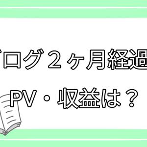ブログ2ヶ月経過!PV・収益は?