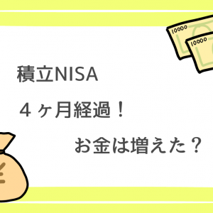 積立NISA4ヶ月経過!お金は増えた?