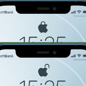 【壁紙配布】iPhone13対応!iPhoneのロック画面の鍵アイコンをオシャレなリンゴにする方法