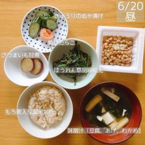 【食事記録】6月20日「腹八分目がわからない」