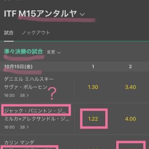 10/15 テニス予想