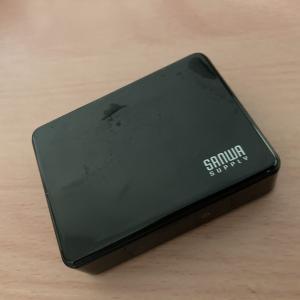 サンワサプライ モバイルバッテリー(デジタル電池残量表示・5200mAh) BTL-RDC9BK
