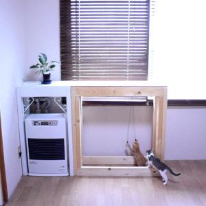 猫と水槽のためのFFストーブにカバーを作りました!