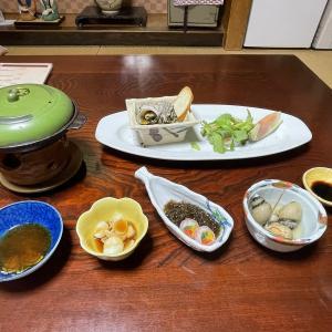 女一人旅 新潟 田上温泉 旅館初音宿泊記(2) 和と伊のコラボ懐石のお夕食