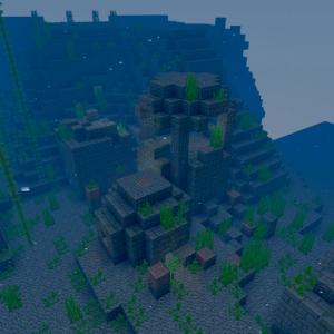 海底遺跡も群れるのか