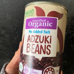 ウールワースのオーガニック小豆を開けてみた