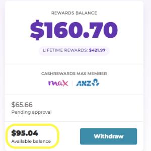 3ヶ月で勝手に$95貯まってた!
