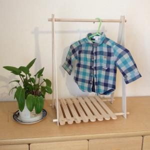 100均DIY/材料費500円子ども用ハンガーラックを手作り!