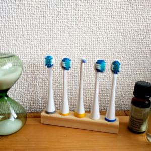 電動歯ブラシ/替えブラシ収納をdiy10分で作れる簡単スタンドをご紹介