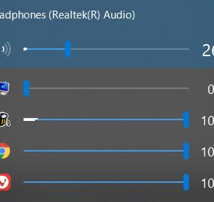 【EarTrumpet】音量ミキサーをワンクリックで調整できるソフトの使い方