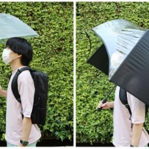 ついに誕生!傘が進化!もう濡れない!ただし。。。【リュックガードアンブレラ】
