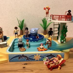 【プレイモービル】クジラの噴水付きプール5433で遊ぶ