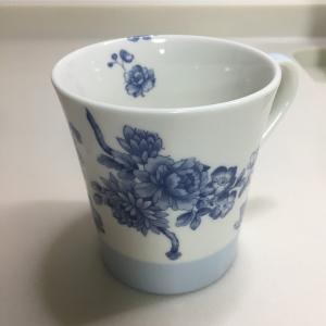 ポーセラーツ ペアのお茶碗とマグカップ作成しました