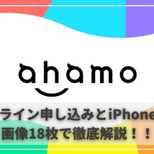 【ahamo(アハモ)】オンラインでの申し込み方法とiPhoneの設定を画像多めで徹底解説!!