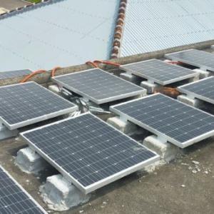 【太陽光発電】自作架台作り ソーラーパネル取り付け方