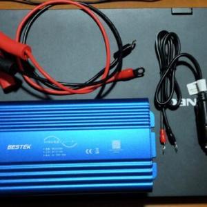 BESTEK正弦波インバーターとバッテリー取付方法/動かせる家電の目安