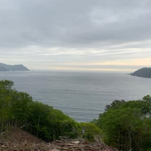 大海原を見て
