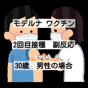 【体験談】モデルナ2回目の副反応 (30歳男性)