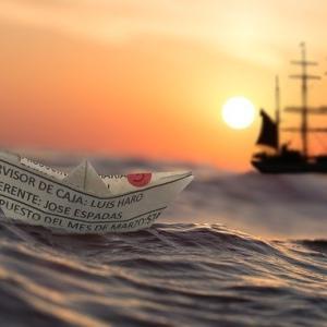 一大決心をして、大海原に漕ぎ出す