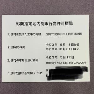 砂防指定地内制限行為許可標識