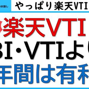 楽天VTIは、SBI・VTIよりリターンが大きい!?~楽天VTIとSBI・VTIを楽天カード、三井住友カードを使ったポイント投資も含めて、比較します!【しゅんの投資・医学のお話し】