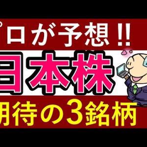 【プロが予想】今後上昇が期待できる日本株・3銘柄!おすすめは?【投資家・ぽんちよ】