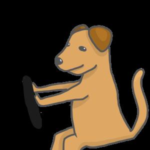 犬 運転 イラスト フリー素材