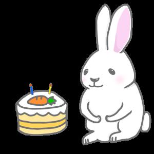 うさぎ ケーキ イラスト