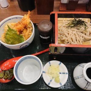 【丸松】フェザン店でざるそばとミニ天丼セット食べてきたよ【盛岡】
