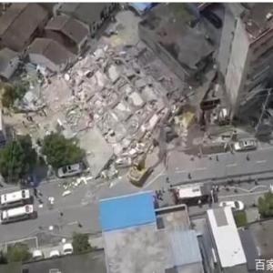 【動画】 中国の築3年のマンションが自然倒壊したあとの惨劇の様子