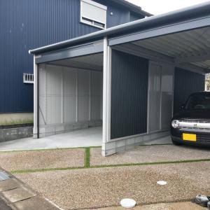 先日完成したガレージの現場です。