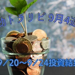2021年9月4週目(9/20~9/24)手動トラリピ