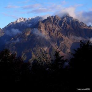 徳本峠から穂高を眺めた日