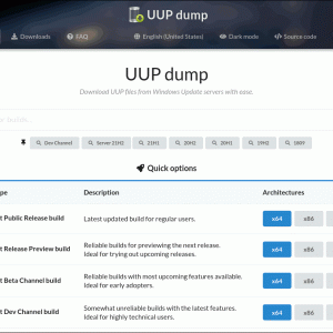 Windows 11 Insider Preview ISO をUUP dumpで取得する