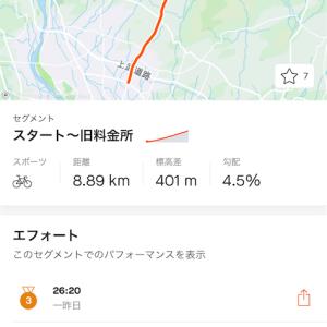 赤城山ヒルクライム2021(中止)試走5回目②