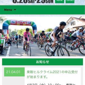乗鞍ヒルクライム2021申し込み!(4月にね)