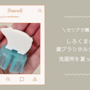 [セリア購入品]しろくまの歯ブラシホルダーで洗面所、夏の模様替え