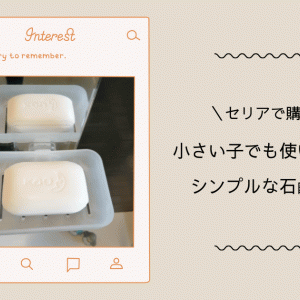 [セリア購入品]シンプルな石鹸置きは小さい子でも使いやすかった!