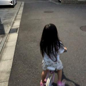 娘の自転車の練習2