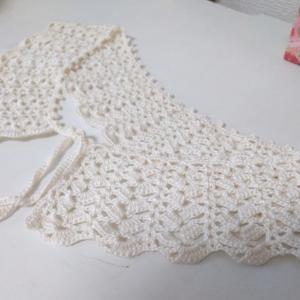 つけ襟を編みました