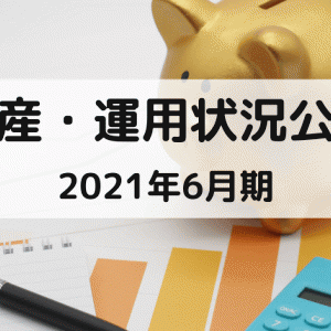 【資産公開】2021年6月の保有資産状況・推移