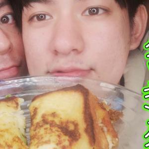 【ゲイカップル】フレンチトーストで包むアボカドサンドイッチの作り方👦👦 (gay couple)