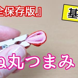 【つまみ細工】 重ね(二重)丸つまみの作り方【基礎】Kanzashi flower つまみ細工の作り方 Craft with me